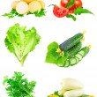 Royalty-Free Stock Photo: Collage of vegetables on white background.