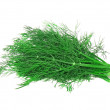 Bunch of dill on white . Isolated — Stock Photo
