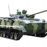 Militaru technics - tank. Isolated — Stock Photo