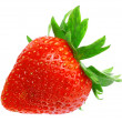 Single fresh strawberries. Isolated - Stock Photo