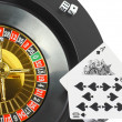 Spin casino roulette, dice,playing cards. Isolated — Stock Photo #6913138