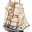 Model of sailing frigate. Isolated. — Stock Photo