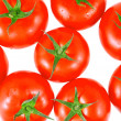 Stock Photo: Lush tomatos with . Isolated