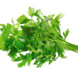 Fresh parsley on white background. Isolated - Stock Photo