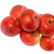 Heap  of ripe, red apples. Isolated. - Stock Photo