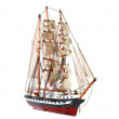 Model of sailing frigate. Isolated. — Stock Photo #6914232