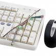 Royalty-Free Stock Photo: Black computer mouse and part of keyboard.