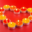 Small light candles, in heart form . — Stock Photo #6914373