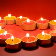Small light candles, in heart form . — Stock Photo #6914374