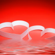 St. Valentine Day. Two hearts — Stock Photo #6914518