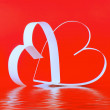St. Valentine Day. Two hearts — Stock Photo