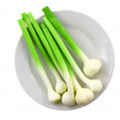 Young garlic on white background. Isolated — Stock Photo #6914631