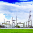 Stock Photo: Substation and Power Transmission Lines.