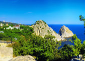 Crimea Black Sea landscape. Ukraine. — Stock Photo