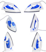 Collection (set) of electric iron. — Stock Photo
