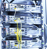 Telecommunication equipment of network cables. — 图库照片