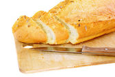 Fresh cutting bread. Isolated — Stockfoto