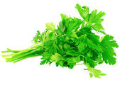 Fresh parsley on white background. Isolated — Stock Photo