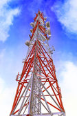 Radio Relay Link, Mobile Base Station. — Stockfoto
