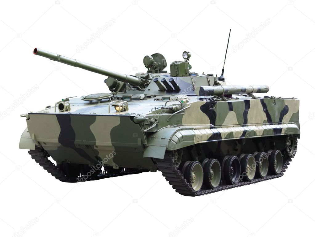 Militaru technics- tank. Isolated over whita background. — Stock Photo #6912268