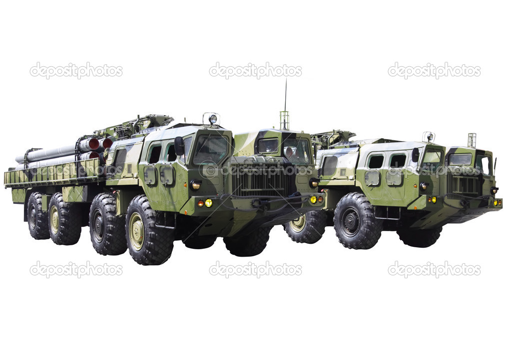Militaru technics. Isolated over whita background.  Stock Photo #6912655