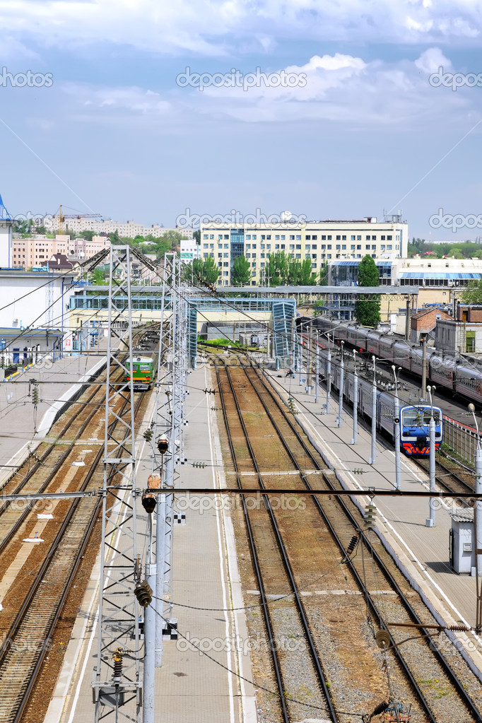 The big Railways Stations with trains. — Stock Photo #6912735