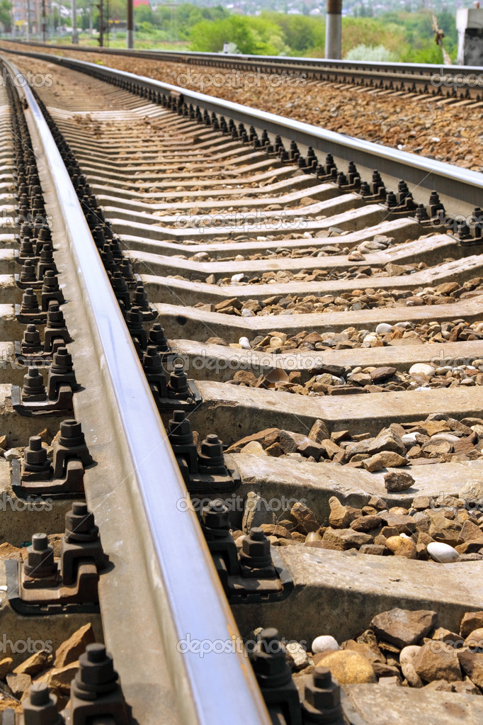 Fragment of the rails ways. — Stock Photo #6912902