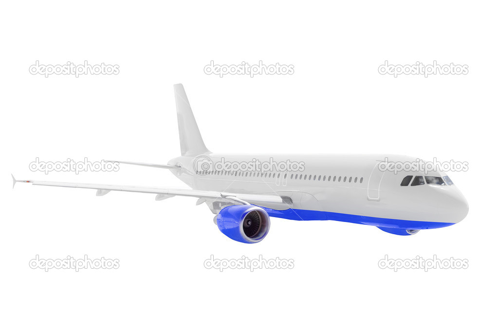 Modern airplane isolated on white background.  Stock Photo #6913913
