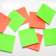 Blank Sticky Note. — Foto de Stock