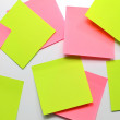 Blank Sticky Note. — Stock Photo