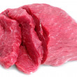 Cut of  beef steak  on white. — Stock Photo