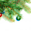 Christmas decoration-glass ball on fir branches. — Stock Photo #7603901