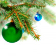Christmas decoration-glass ball on fir branches. — Stock Photo #7603916