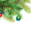Christmas decoration-glass ball on fir branches. — Stock Photo #7624544