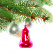 Christmas decoration-glass ball on fir branches. — Stock Photo #7625020