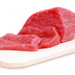 Cut of beef steak on meat hardboard. — Stock Photo #7678662