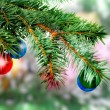 Christmas,New Year decoration-balls, green tinsel - 
