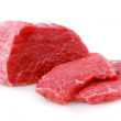 Cut of  beef steak  on white. - Stock Photo