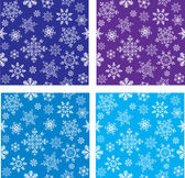 Set of seamless vector with snowflakes — Stock Vector