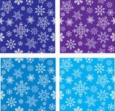 无缝向量与雪花一套 — 图库矢量图片