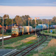 Freight diesel train — Stock Photo #7299623