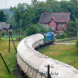 Freight diesel train — Stock Photo #7324464