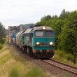Freight diesel train — Stock Photo #7324509