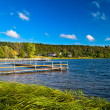 Landscape at the lake — Stock Photo
