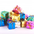 Royalty-Free Stock Photo: Collection of presents isolated on white