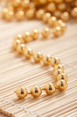 Gold pearls — Stock Photo