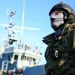 A Navy Seals team, marine soldier — Stock Photo