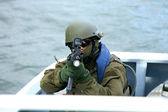 海军海豹队,海洋的士兵 — 图库照片