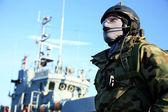 Een Marine zeehonden team, marine soldaat — Stockfoto