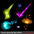 Vector light effects set - Stock Vector